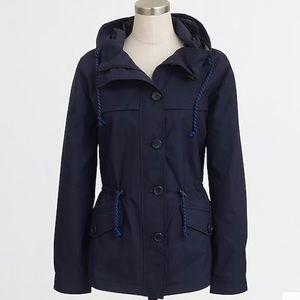 J. Crew Navy Hooded Nylon Jacket